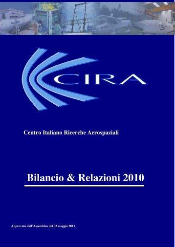 Bilancio di Esercizio CIRA 2010