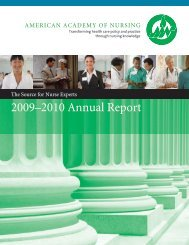 2009–2010 Annual Report - American Academy of Nursing