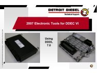 2007 Electronic Tools for DDEC VI