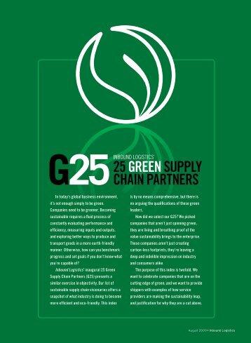 25 Green Supply Chain Partners - Inbound Logistics