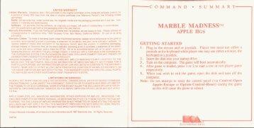 Marble Madness Manual - Virtual Apple