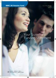 Your Summary Funding Statement - MMC UK Pensions - Marsh ...
