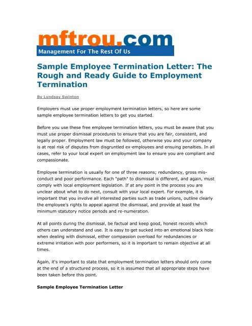 Termination Of Employment Letter By Employee from img.yumpu.com