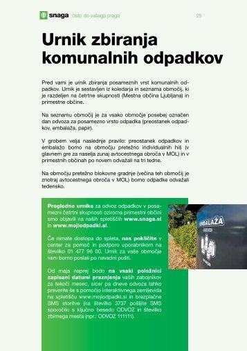 Urnik zbiranja komunalnih odpadkov - Snaga