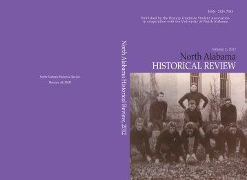 North Alabama Historical Review - Vol. 2 - University of North Alabama