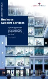 Business Support Services Leaflet - CzechInvest
