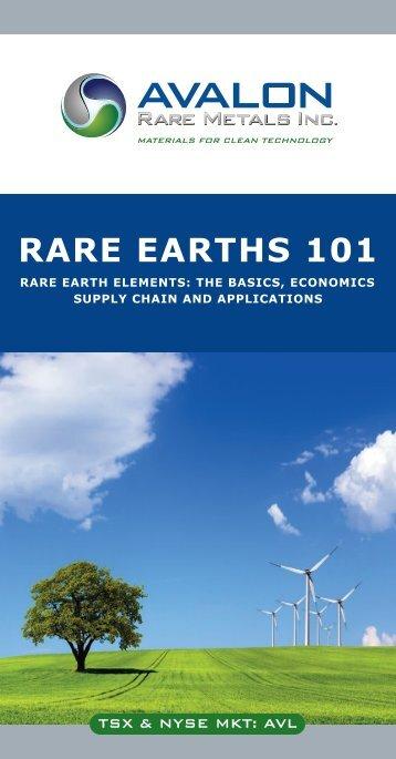 RARE EARTHS 101 - Avalon Rare Metals