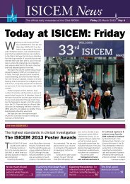 Today at ISICEM: Friday - International Symposium on Intensive ...