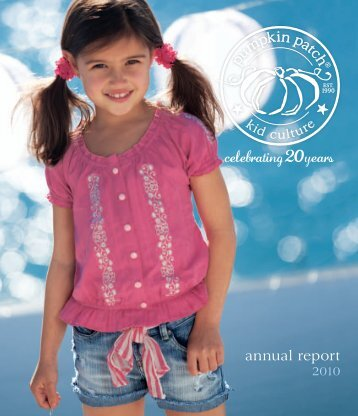 annual report - Pumpkin Patch investor relations
