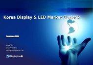 Korea Display & LED Market Outlook