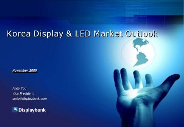 Korea Display & LED Market Outlook