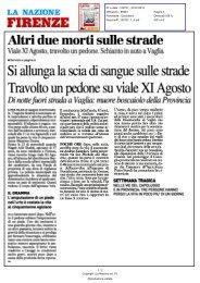 Altri due morti sulle strade Viale XI Agosto, travolto un pedone ...