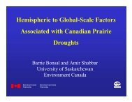 Hemispheric to Global-Scale Factors Associated with Canadian ...