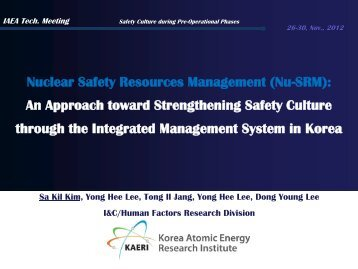 Sa Kil Kim_Nuclear Safety Resources ... - gnssn