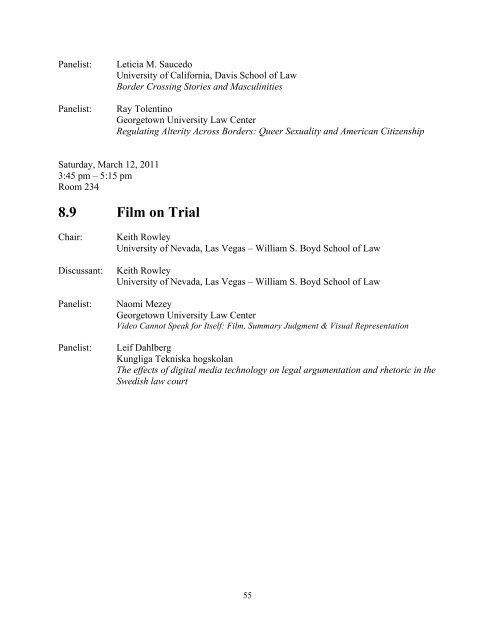 2011 Conference Program (PDF) - Syracuse University College of Law