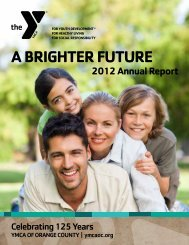 A BRIGHTER FUTURE - YMCA of Orange County