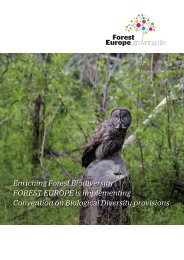 Enriching Forest Biodiversity FOREST EUROPE is implementing ...