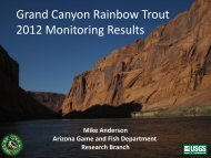 Anderson, Grand Canyon Rainbow Trout 2012 Monitoring Results