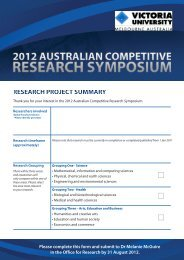 Australian Competitive Research Symposium EOI - Office for Research