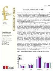 La povertà relativa in Italia nel 2006 - Istat