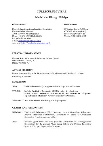 Curriculum Vitae Name Ali Bayar Address Universite Libre De