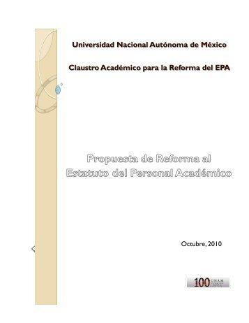 Propuesta de Reforma al Estatuto del Personal Académico