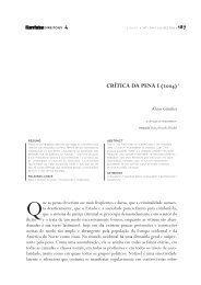 CRÍTICA DA PENA I (2004) - Escola de Direito de São Paulo