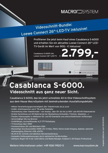 Casablanca S-6000. - 4DiMotion