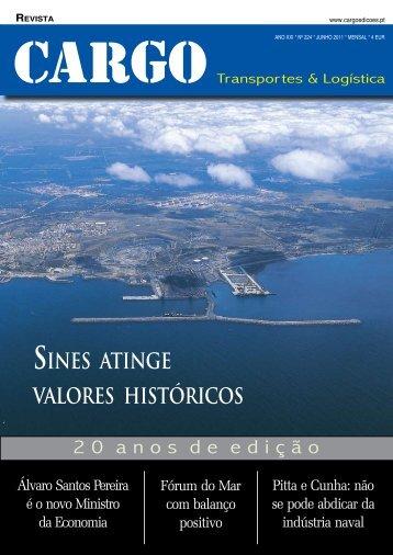 SINES ATINGE VALORES HISTóRICOS - Cargo