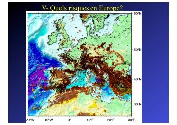 V Quels risques en Europe?