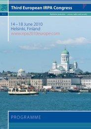 Programme - Third European IRPA Congress, 14-18 June 2010 ...