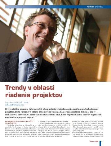 Trendy v oblasti riadenia projektov - eFOCUS
