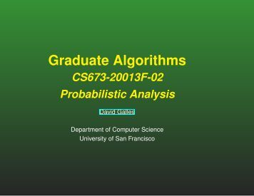 lecture - Computer Science - University of San Francisco