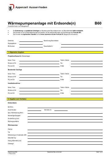 Wärmepumpenanlage mit Erdsonde(n) B60 - Walzenhausen