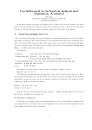 Use Software R to do Survival Analysis and Simulation. A ... - Statistics