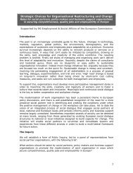 Strategic Choices for Organisational Restructuring and Change