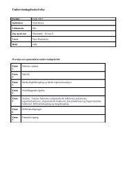 Undervisningsbeskrivelse - Forside for harremoes.dk