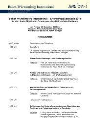 Programm - German Centres