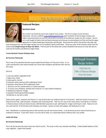Featured Recipes - Dr. McDougall