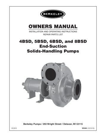 viking pump technical service manual