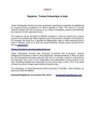 Dr K Ardeshna IOSUK Fellowship report - Indian Orthopaedic