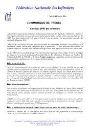 Communiqué de presse - élections URPS des infirmiers - FNI