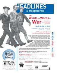 HEADLINES INES - Harford County Public Library