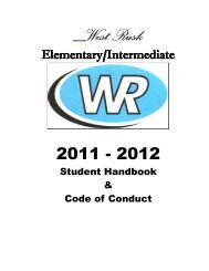 Elementary Handbook 2012-2013 - West Rusk Consolidated ...