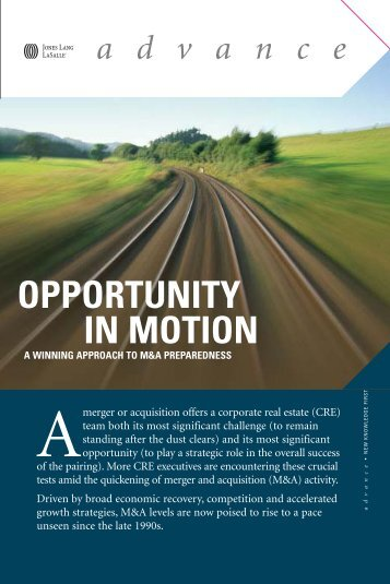 OPPORTUNITY IN MOTION - Jones Lang LaSalle