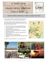 GS Small Group Kenyan Safari Adventure - Global Sojourns