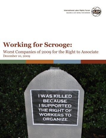 Working for Scrooge: - International Labor Rights Forum