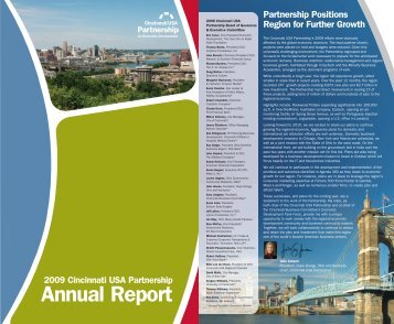 2009 Cincinnati USA Partnership Annual Report - Gisplanning.net