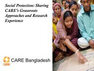Sharing CARE's grassroots approaches and research - Shiree