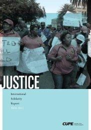 International Solidarity Report 2010-2011 - Cupe Local 998